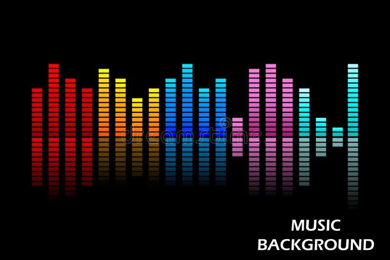 Muziekequaliser vector illustratie