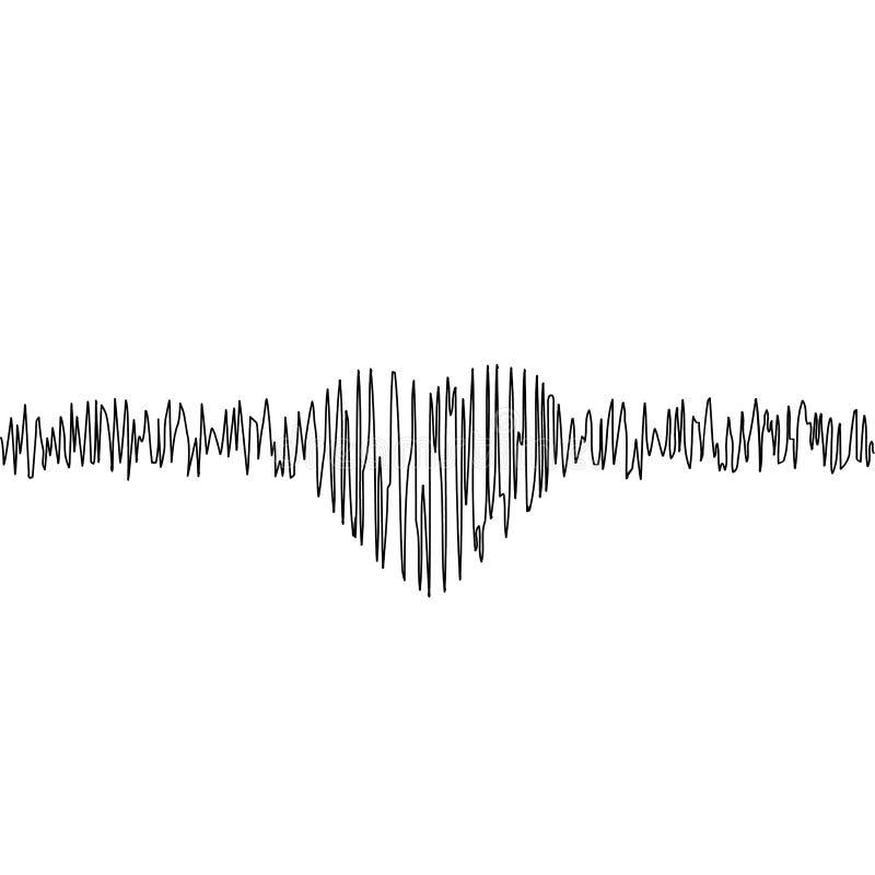 Muziekequaliser in vorm van hart royalty-vrije illustratie