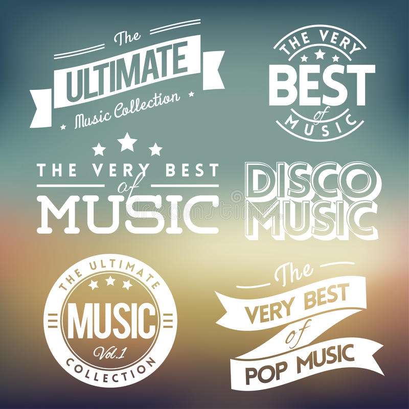 Muzieketiketten vol.3 royalty-vrije illustratie