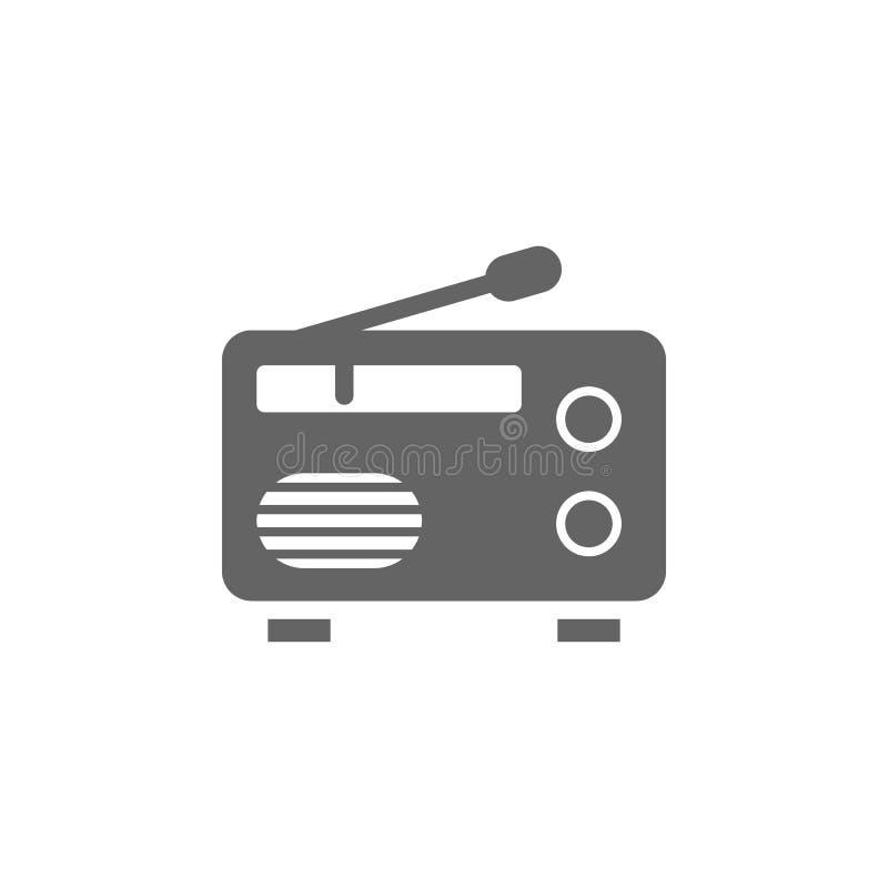 Muziekfestival, radio, antenne, transistor-pictogram Pictogram voor muziekfestival Premium - pictogram voor grafisch ontwerp van  vector illustratie