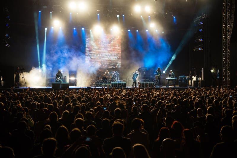 Muziekfestival Topfest 2015, Piestany, Slowakije royalty-vrije stock afbeelding