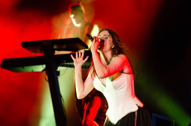 Muziekfestival Topfest 2015, Piestany, Slowakije stock foto