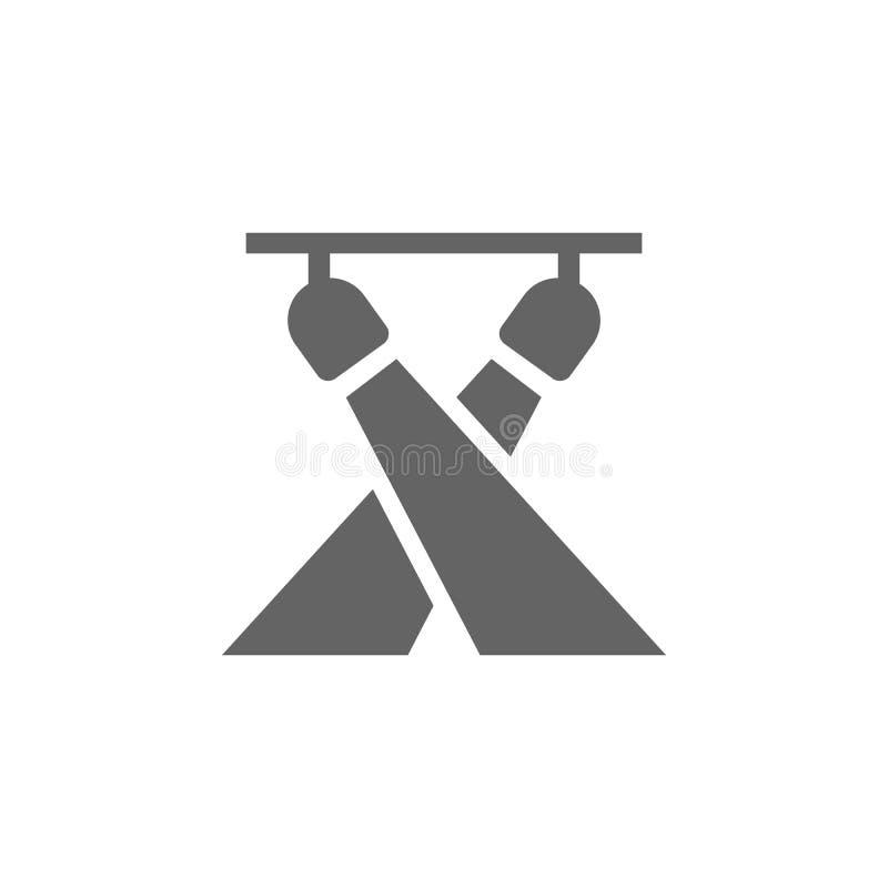 Muziekfestival, verlicht, licht, schijnwerper Pictogram voor muziekfestival Premium - pictogram voor grafisch ontwerp van hoge kw vector illustratie