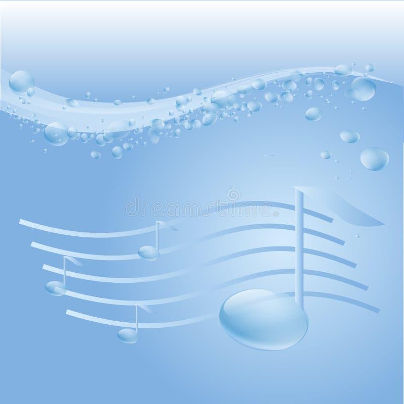 Muziekgolf royalty-vrije stock fotografie