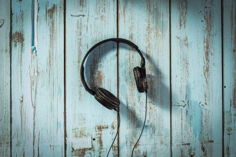 Muziekhoofdtelefoons royalty-vrije stock afbeeldingen