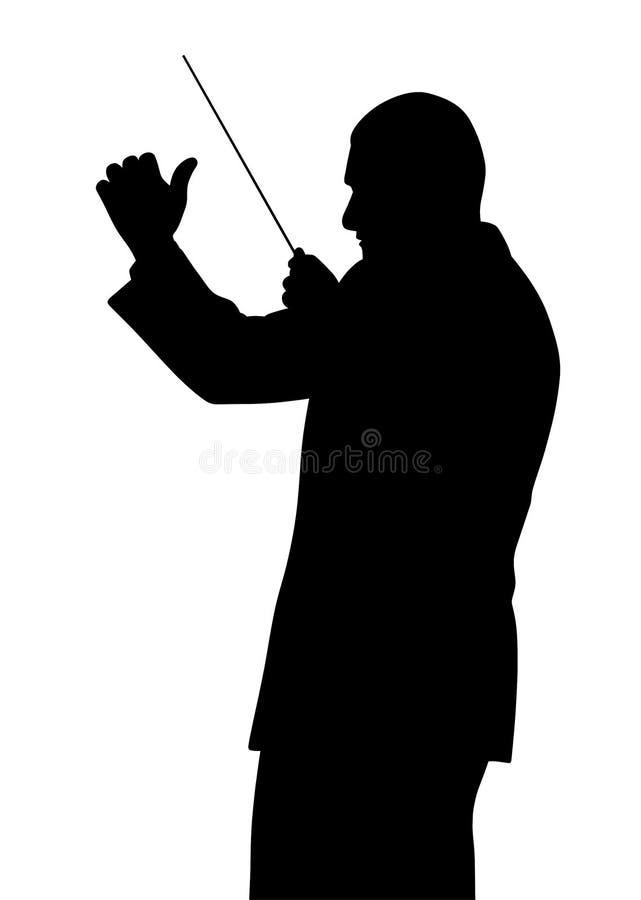Muziekleider stock illustratie