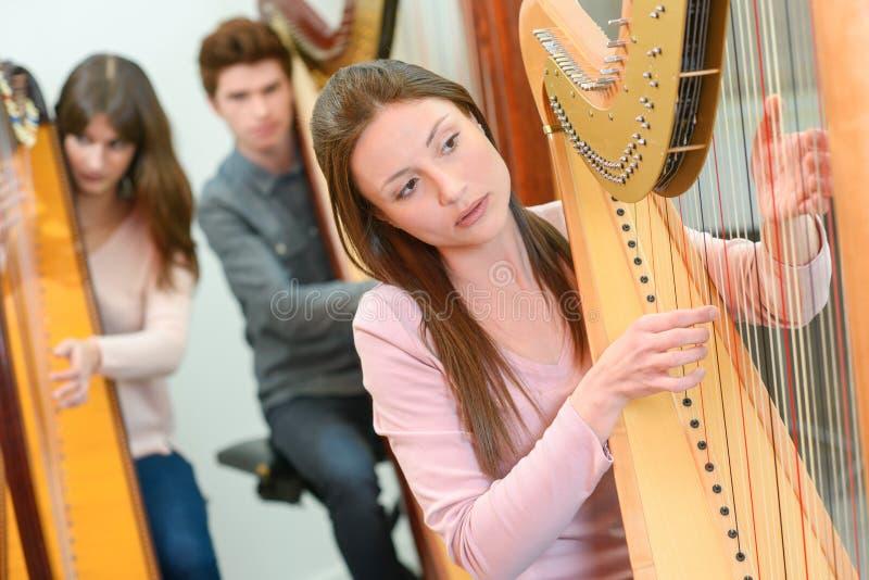 Muziekles bij serre royalty-vrije stock foto's