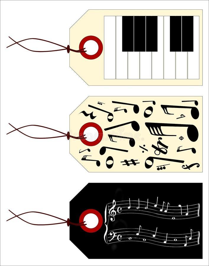 Muziekmarkeringen vector illustratie