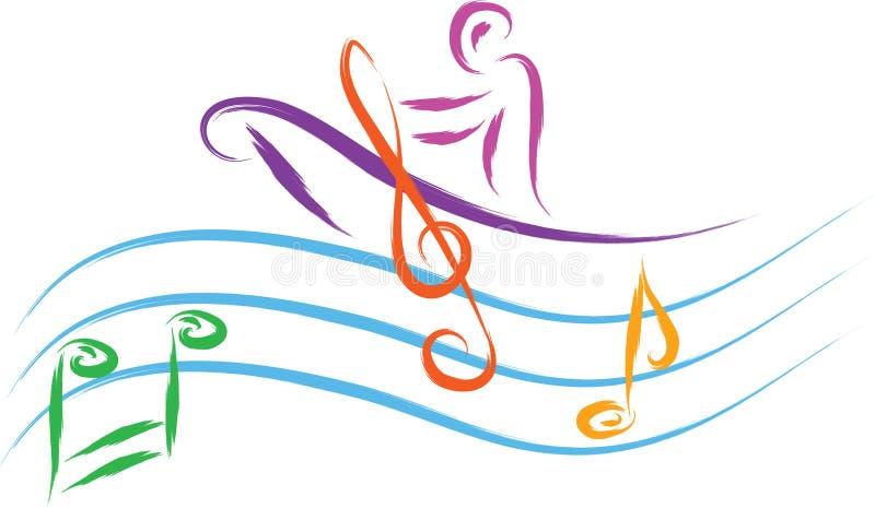 Muziekmens royalty-vrije illustratie
