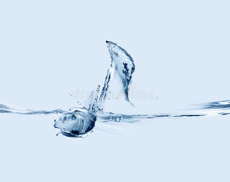 Muzieknoot van Water royalty-vrije stock foto