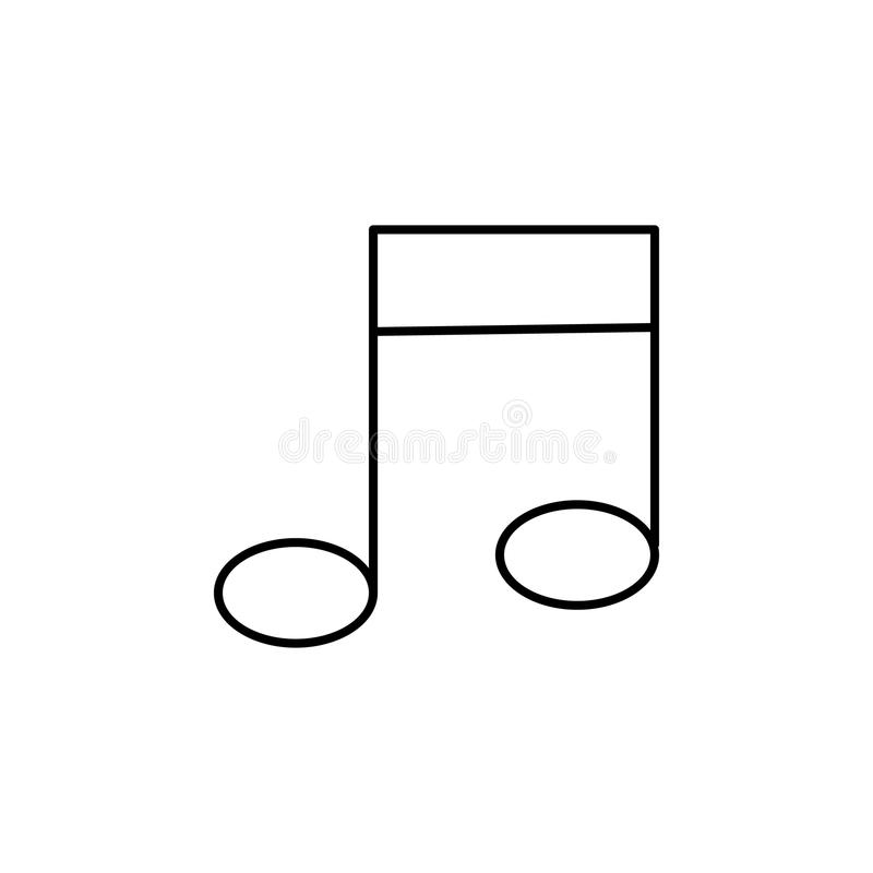 Muzieknootpictogram Element van eenvoudig pictogram voor websites, Webontwerp, mobiele app, informatiegrafiek Het dunne lijnpicto royalty-vrije illustratie