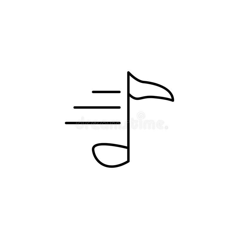 Muzieknootpictogram Element van eenvoudig pictogram voor websites, Webontwerp, mobiele app, informatiegrafiek Het dunne lijnpicto vector illustratie