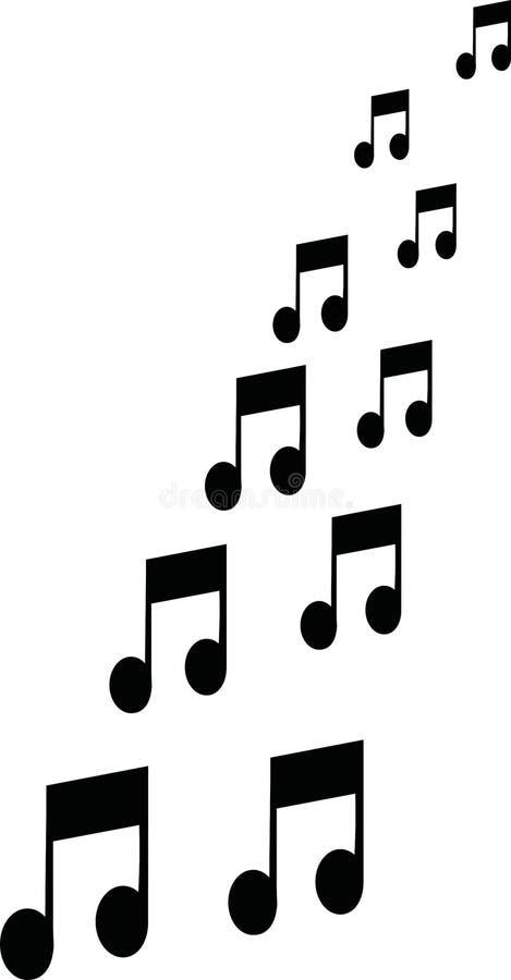 Muzieknota's het vliegen stock illustratie
