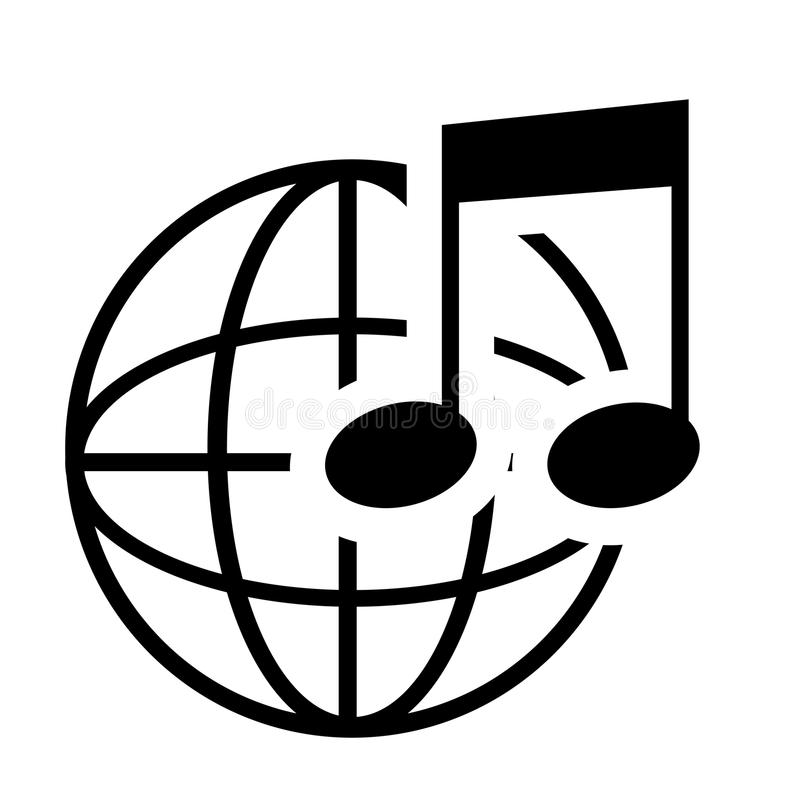 Muzieknota in zwart-wit royalty-vrije illustratie