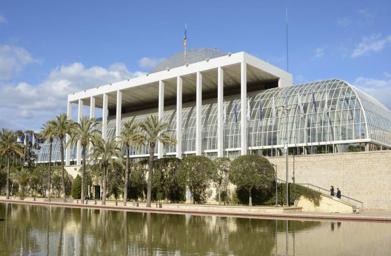 Muziekpaleis in Valencia spanje stock afbeelding