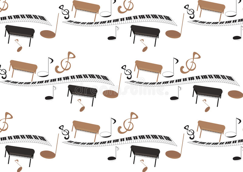 Muziekpatroon stock illustratie