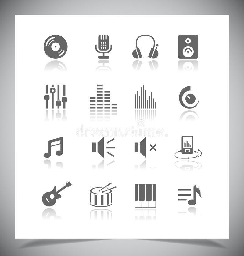 Download Muziekpictogrammen vector illustratie. Illustratie bestaande uit pictogram - 39106820