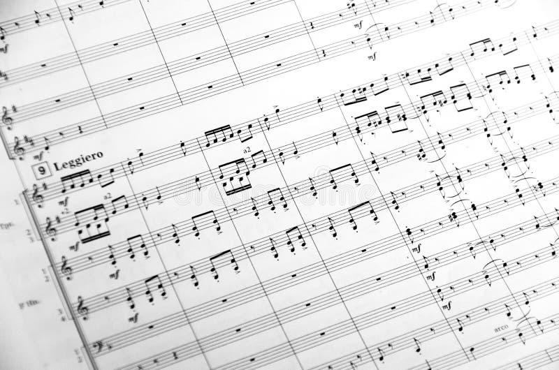 Muziekscore royalty-vrije stock foto
