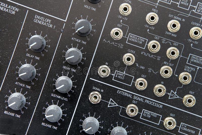 Muzieksynthesizer royalty-vrije stock afbeelding