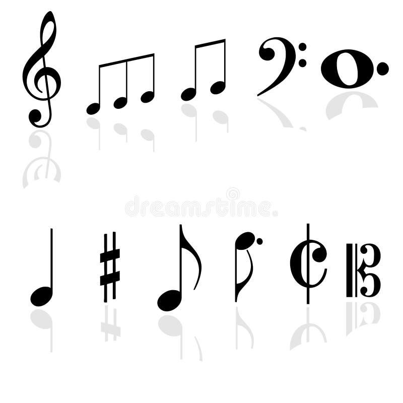 Muziektekens stock foto's