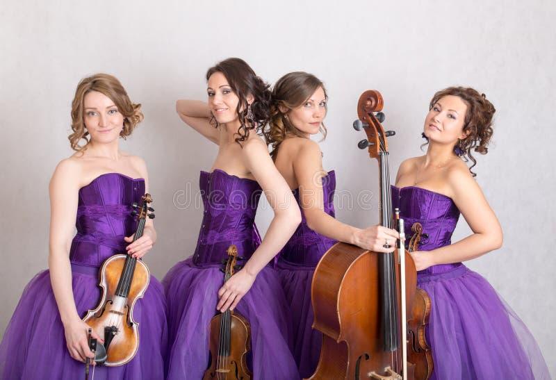 Muzikaal kwartet royalty-vrije stock fotografie