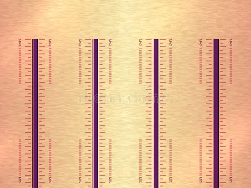 Download Muzikaal paneel stock afbeelding. Afbeelding bestaande uit aluminium - 10778099