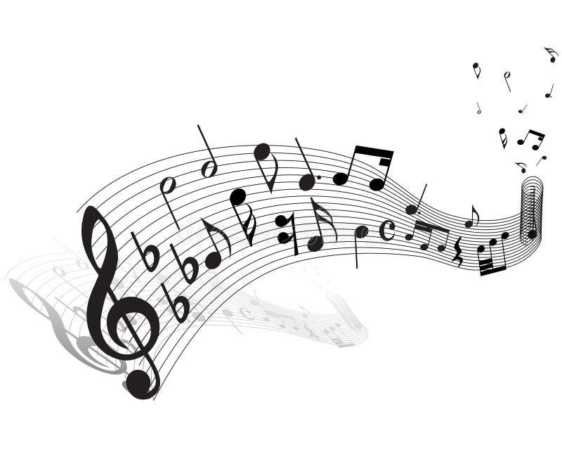 Muzikaal personeelsthema royalty-vrije illustratie