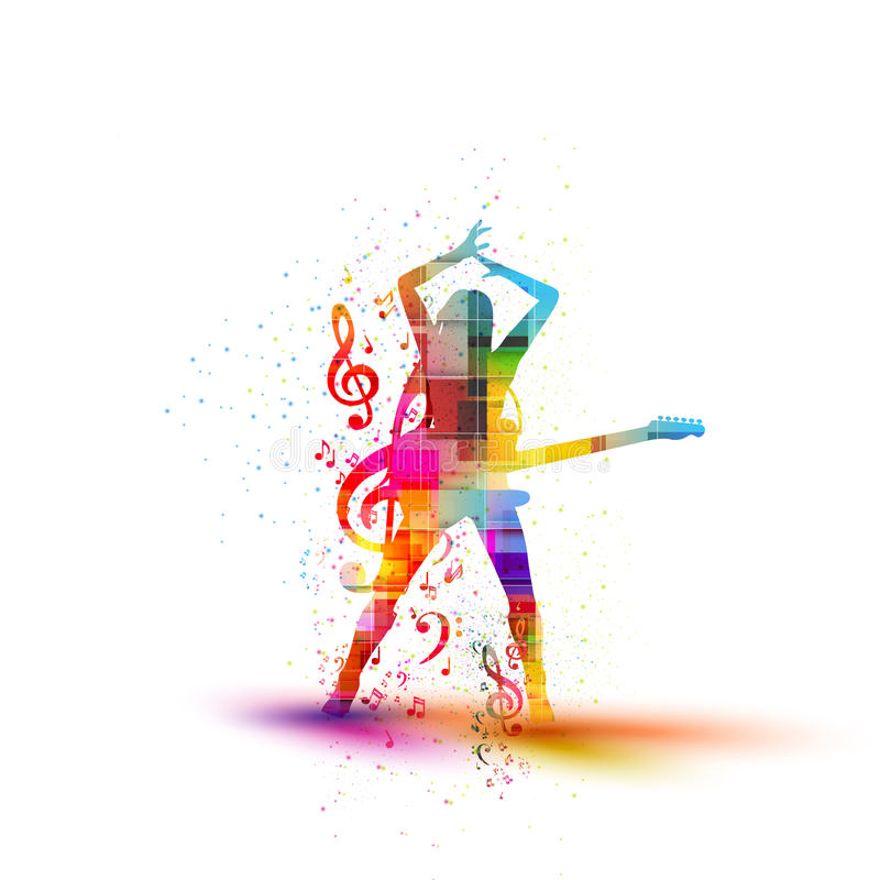 Muzikaal silhouet desig vector illustratie