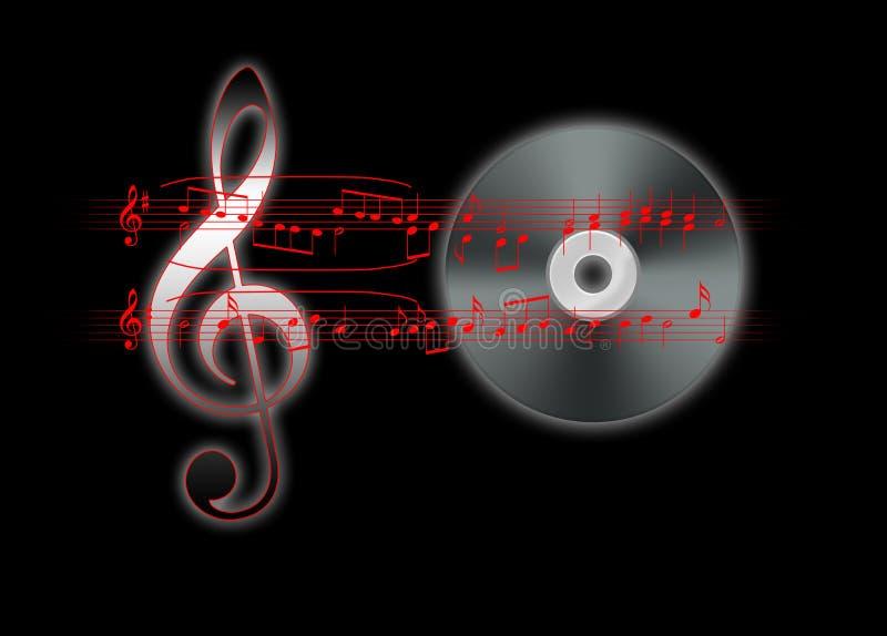 Muzikaal thema met de sleutel en de staaf van G stock afbeelding
