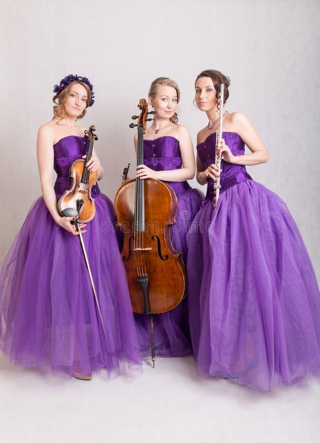 Muzikaal Trio royalty-vrije stock foto