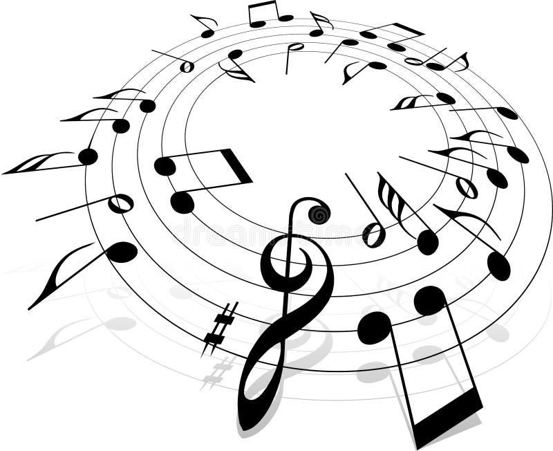 Muzikale aantekening stock illustratie