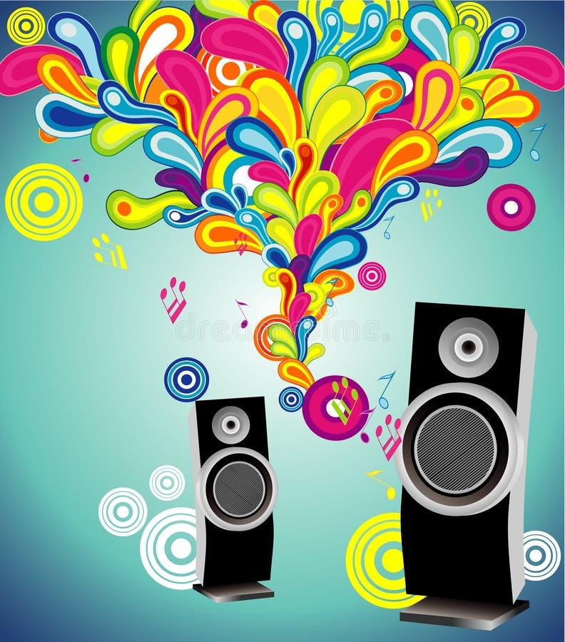 Muzikale abstracte vector stock illustratie