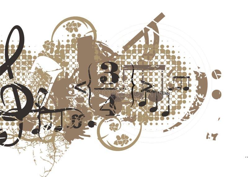 Muzikale Achtergrond royalty-vrije illustratie