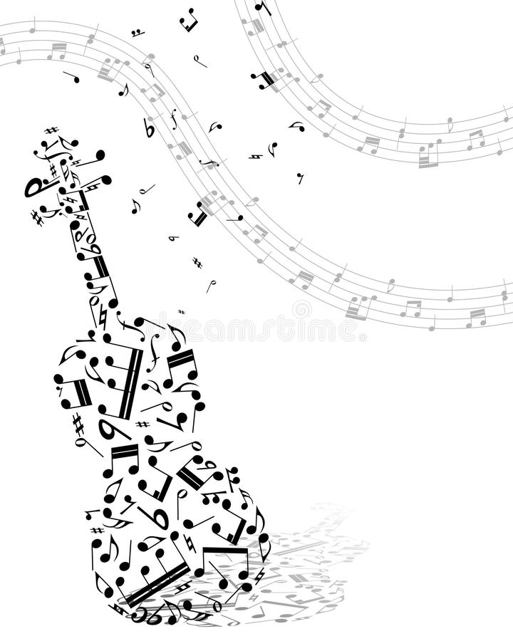 Muzikale achtergrond stock illustratie