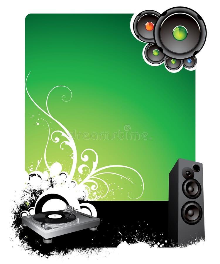 Muzikale achtergrond vector illustratie