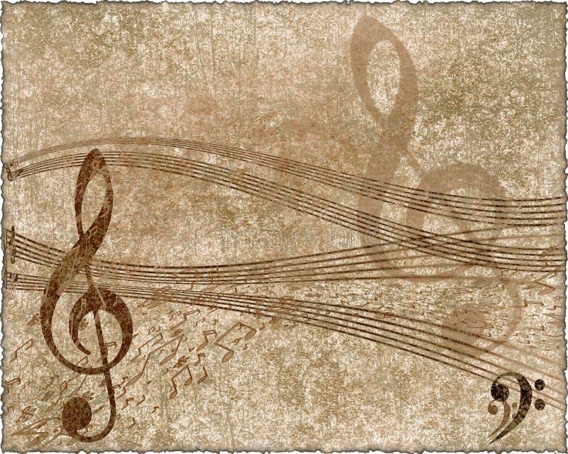 Muzikale achtergrond in grungestijl vector illustratie