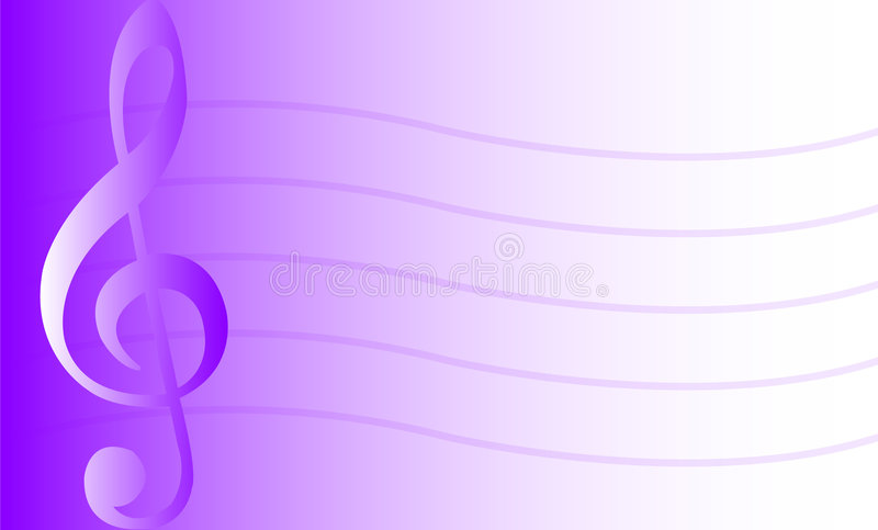 Muzikale Achtergrond/Purple/eps royalty-vrije illustratie