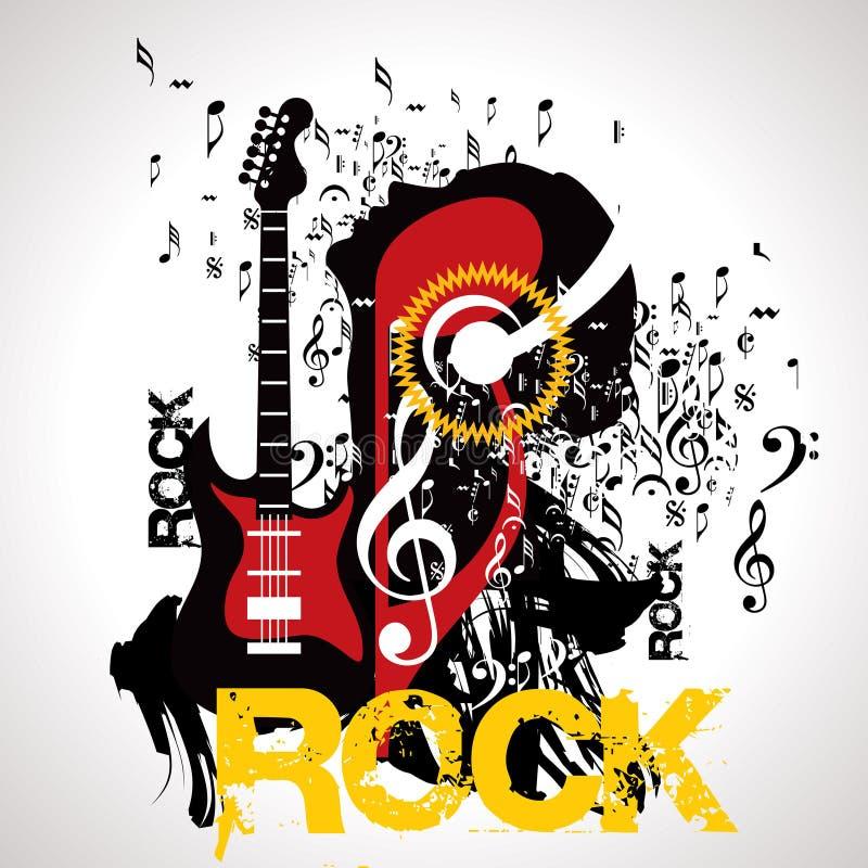 Muzikale achtergrond voor het ontwerp van de muziekgebeurtenis royalty-vrije illustratie