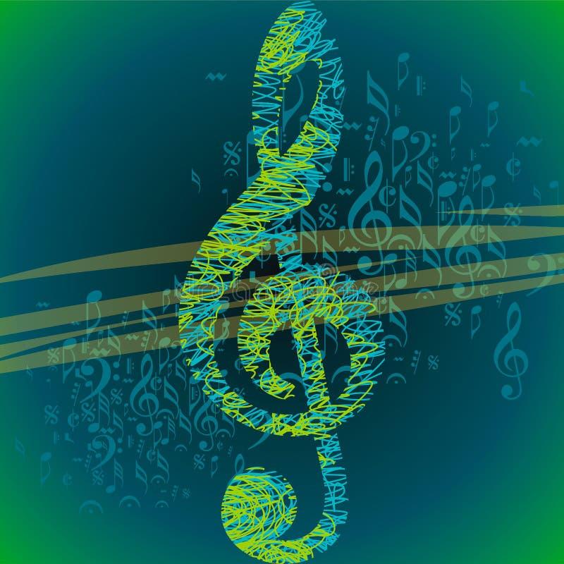 Muzikale achtergrond voor het ontwerp van de muziekgebeurtenis vector illustratie
