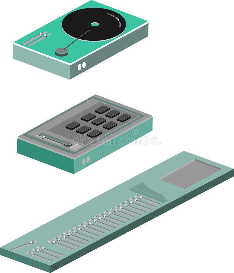 Muzikale apparatuur vector illustratie