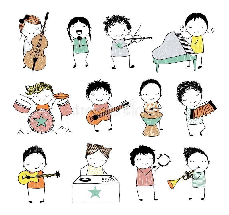 Muzikale band stock illustratie