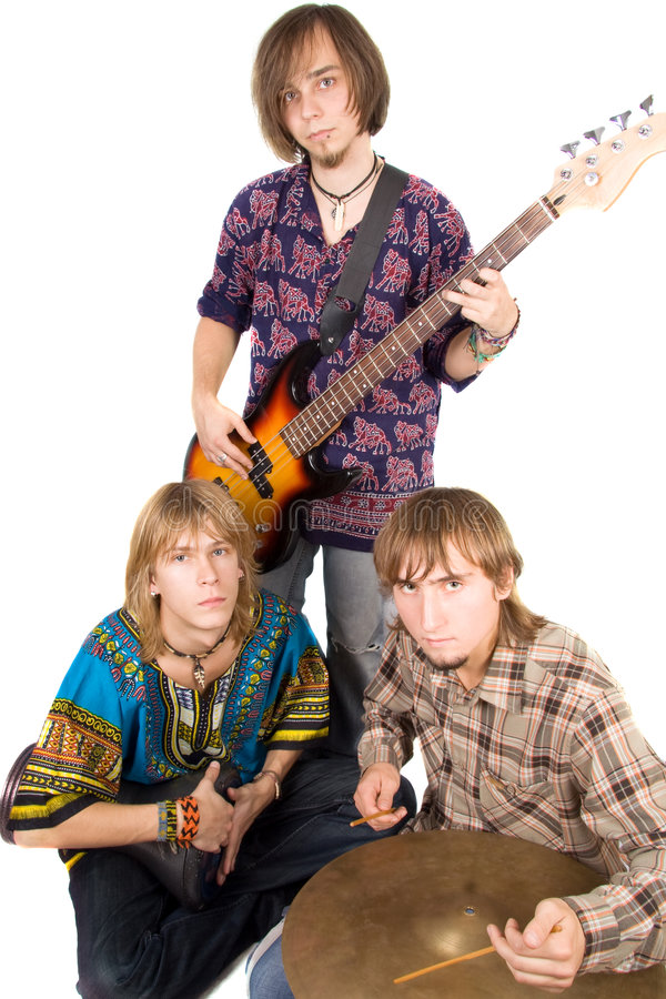 Muzikale band stock foto's