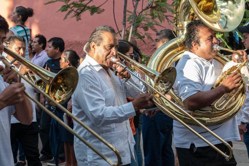 Muzikale band Oaxaca, Mexico royalty-vrije stock foto