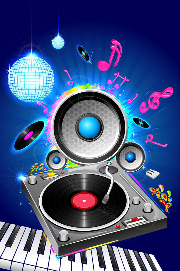 Muzikale Disco stock illustratie