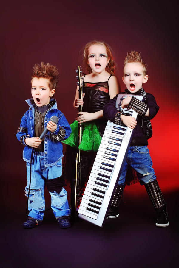 Muzikale groep stock fotografie
