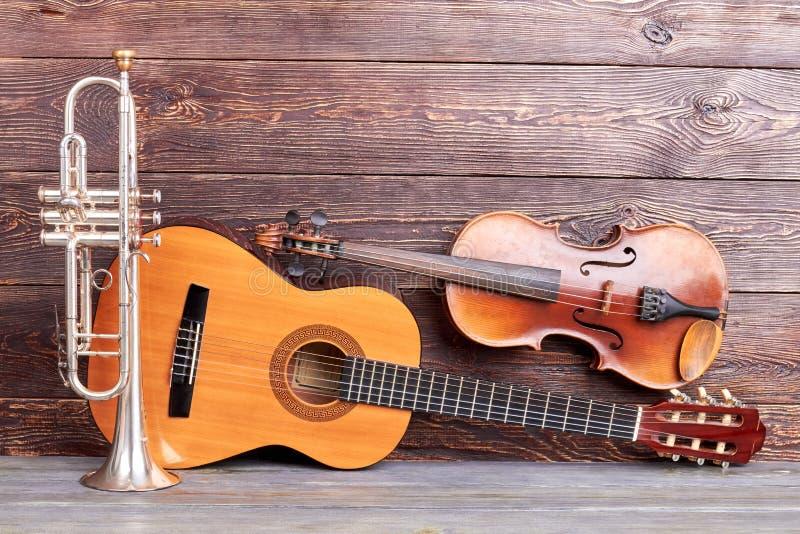 Muzikale instrumenten van uitstekende stijl royalty-vrije stock foto's