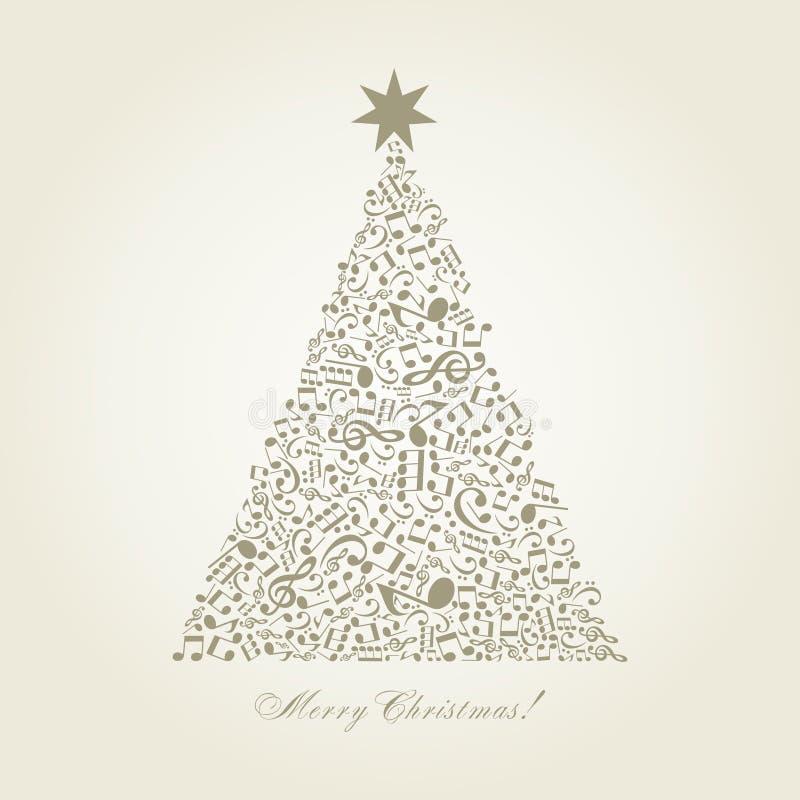 Muzikale Kerstboom vector illustratie