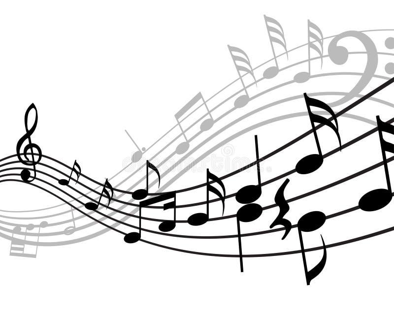 Muzikale materiaalachtergrond stock illustratie