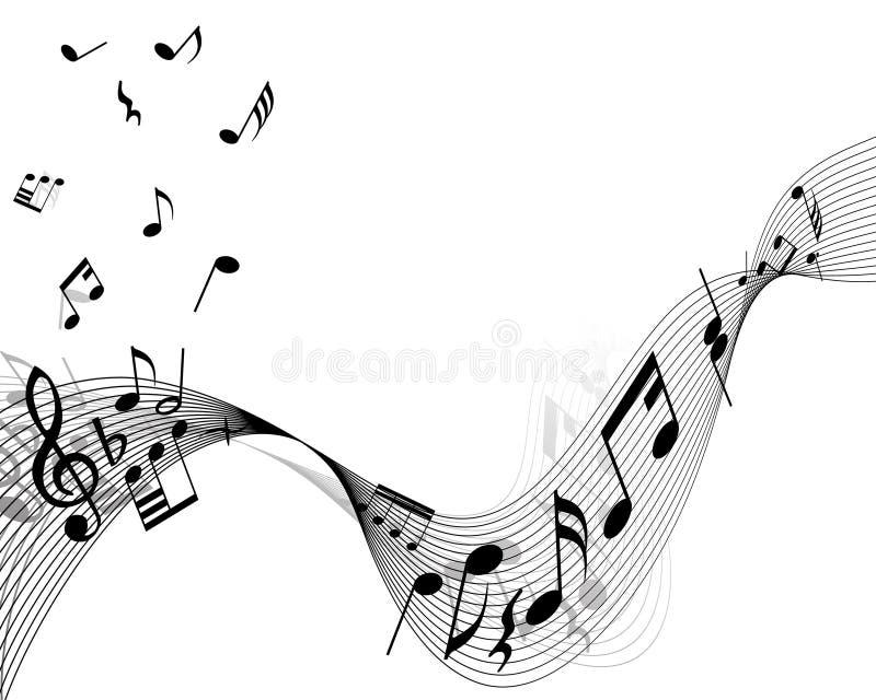 Muzikale materiaalachtergrond vector illustratie