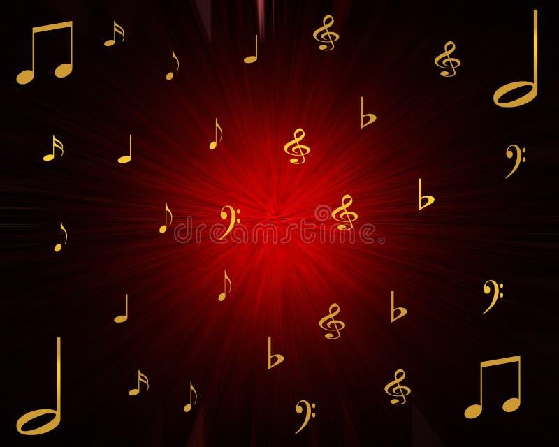 Muzikale ontploffing stock illustratie